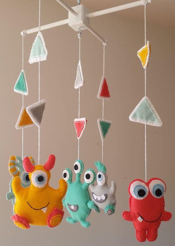 Baby Mobile Monsters Alien Crib