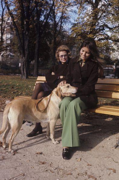 Princess Caroline & Princess Grace of Monaco in Paris.December,1972.