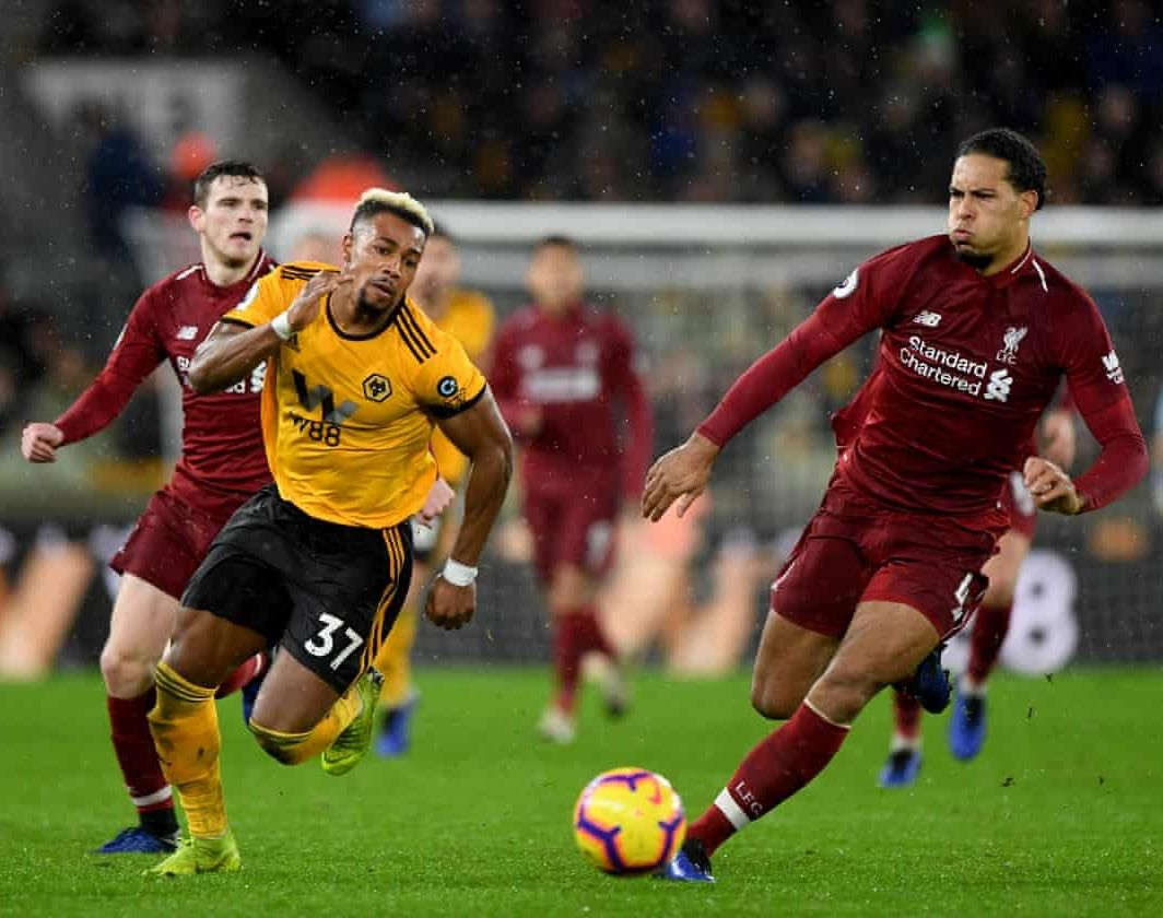 20181222 Wolverhampton 0 2 Liverpool Adama Traore Virgil Van Dijk Sam Bagnall Ama Getty Images Premier League Sports League