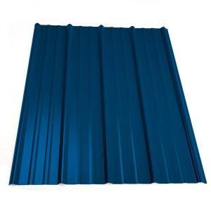 Metal Sales 16 Ft Classic Rib Steel Roof Panel In Ocean Blue