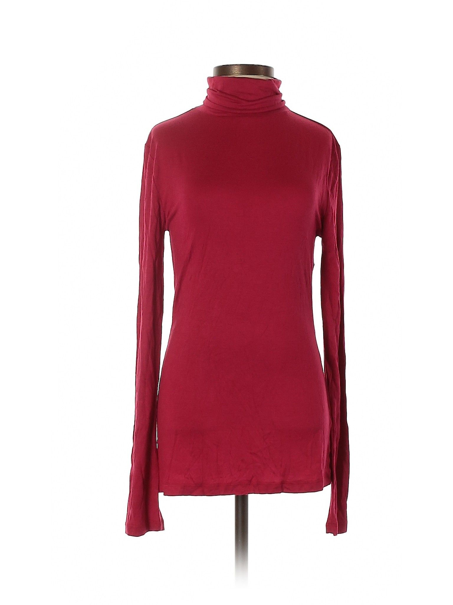 Zenana Outfitters Long Sleeve Top Red Solid Turtleneck Tops Used