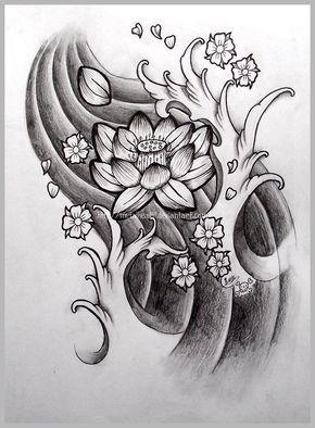 Japanese Lotus Tattoo Design                                                                                                                                                      Más