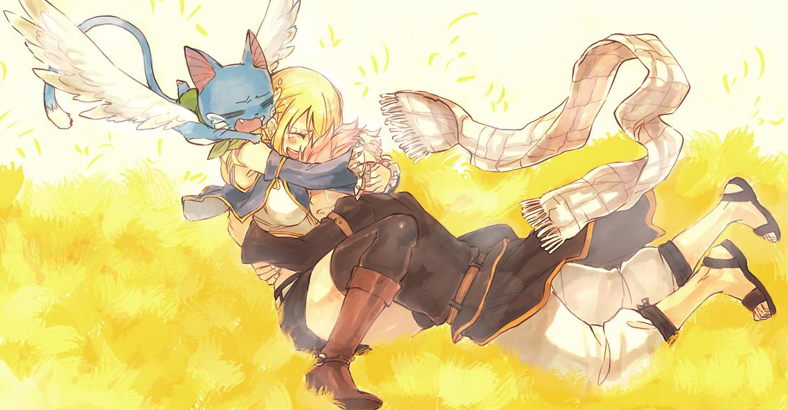 Natsu and Lucy - Heavy Hug HD Image | J's anime stuff | Fairy tail