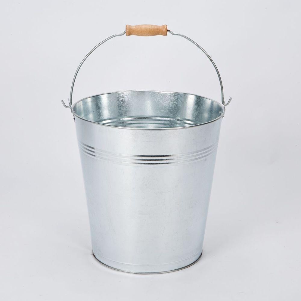 Galvanised Bucket7 L or 12 L Heavy Duty Metal Pail Water Feed Coal Fire Ash