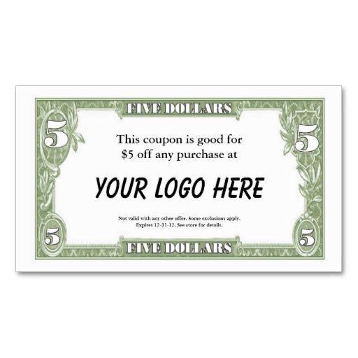 $5 coupon template