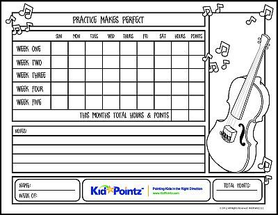 Violin practice chart charts kid pointz also rh pinterest