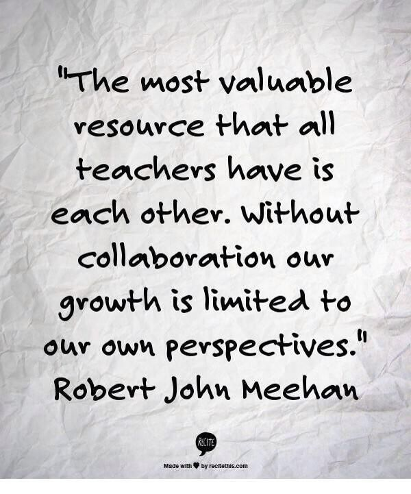 Image result for collaboration teachers is key quotes