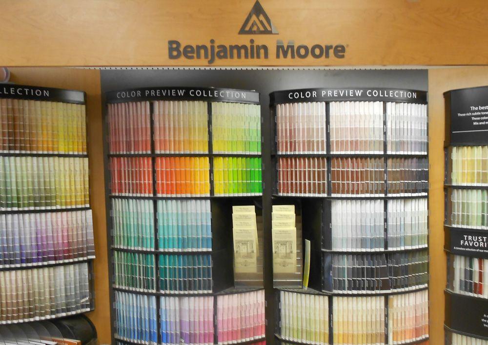 Benjamin Moore Paint Chip Display Marine Home Center 134 Orange Street Nantucket, MA 02554