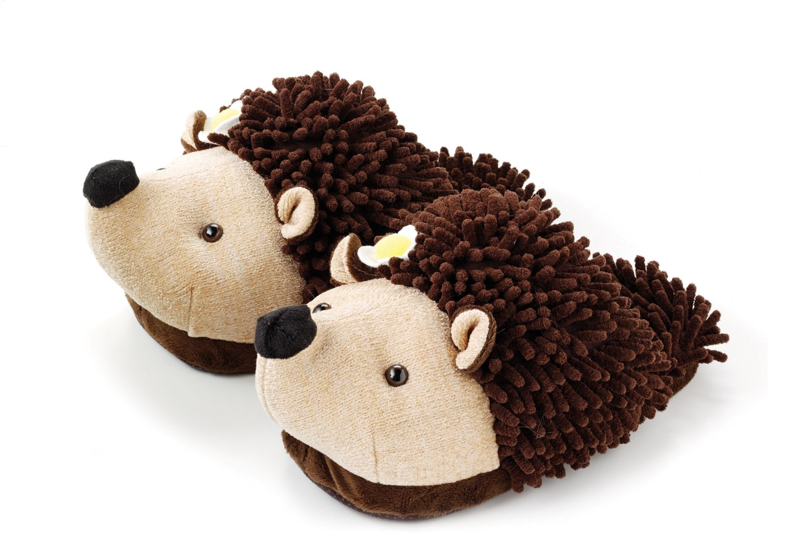 Adult Youth Fuzzy Friends Hedgehog Plush Animal Slippers By Aroma