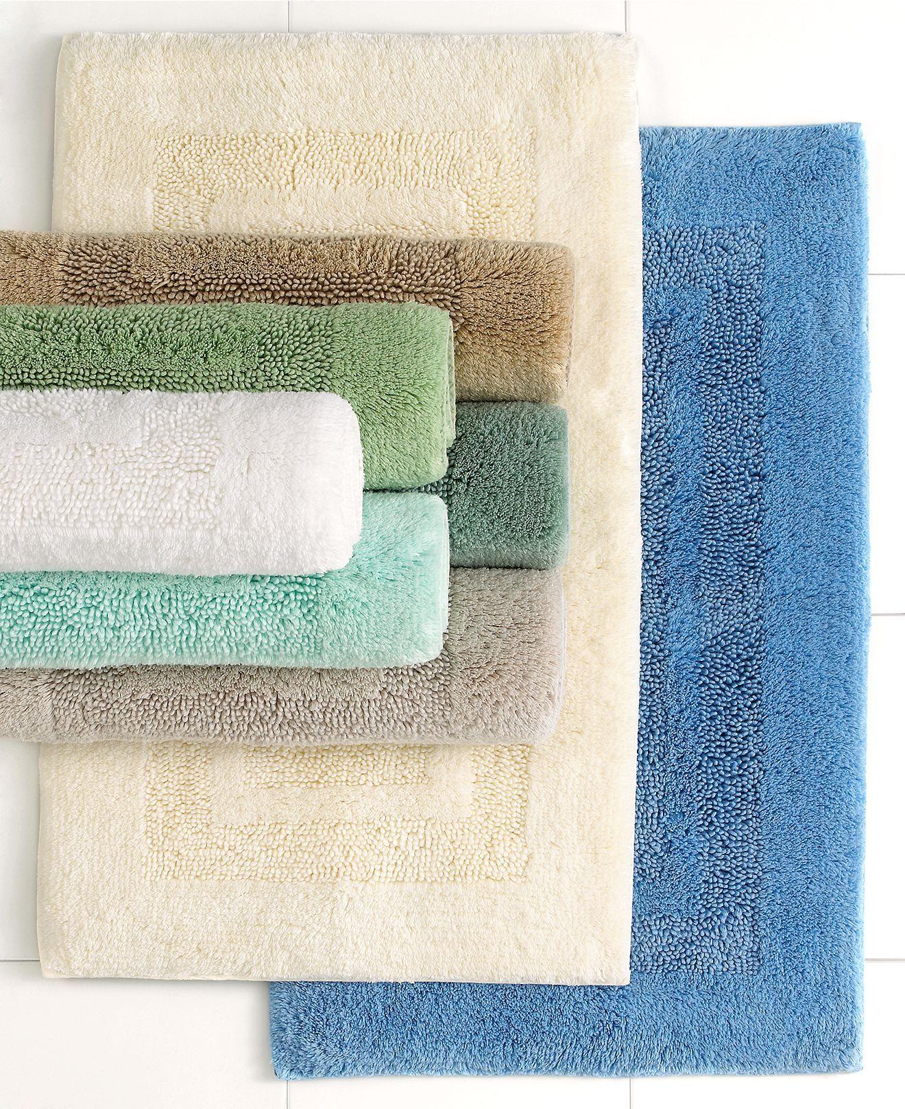 Martha Stewart Collection Bath Rugs Plush Squares Cotton