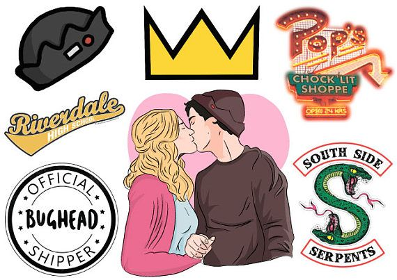 Riverdale A4 Sticker Sheet Bughead Jughead Jones Archie Stikery