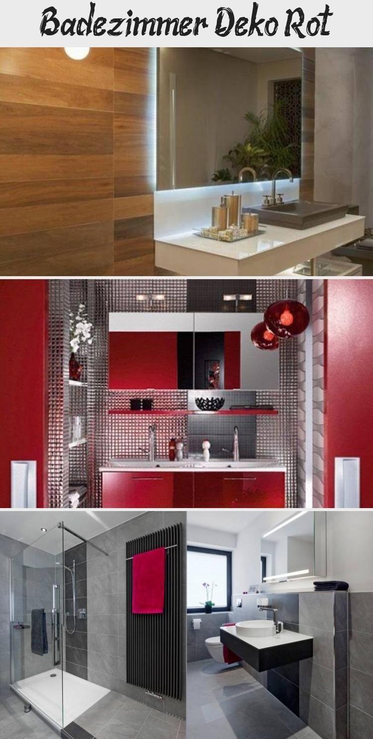 Badezimmer Deko Rot Dekoration In 2020 Badezimmer Deko Badezimmer