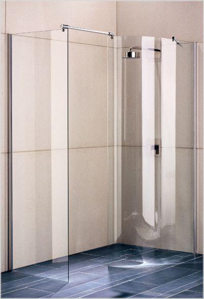 breuer entra walk in 1 teilig mit seitenwand duschkabinen walk in bathroom renovations. Black Bedroom Furniture Sets. Home Design Ideas