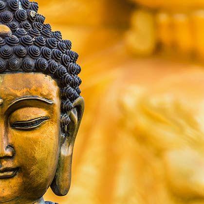 Half Gold Buddha Face Buddha face, Buddha, Buddha art