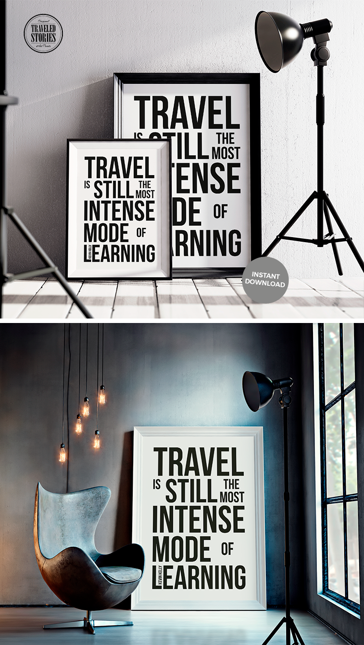 """""""Travel is still the most intense mode of learning"""" a ..."""