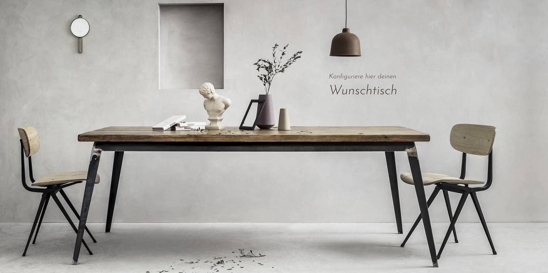 Möbel Industrial Design   minimalistische Holzmöbel nach Maß