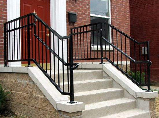 Awesome Exterior Metal Handrails Pictures - Interior Design Ideas ...