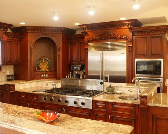 Indian kitchen design pictures remodel decor and ideas for Traditional modular kitchen
