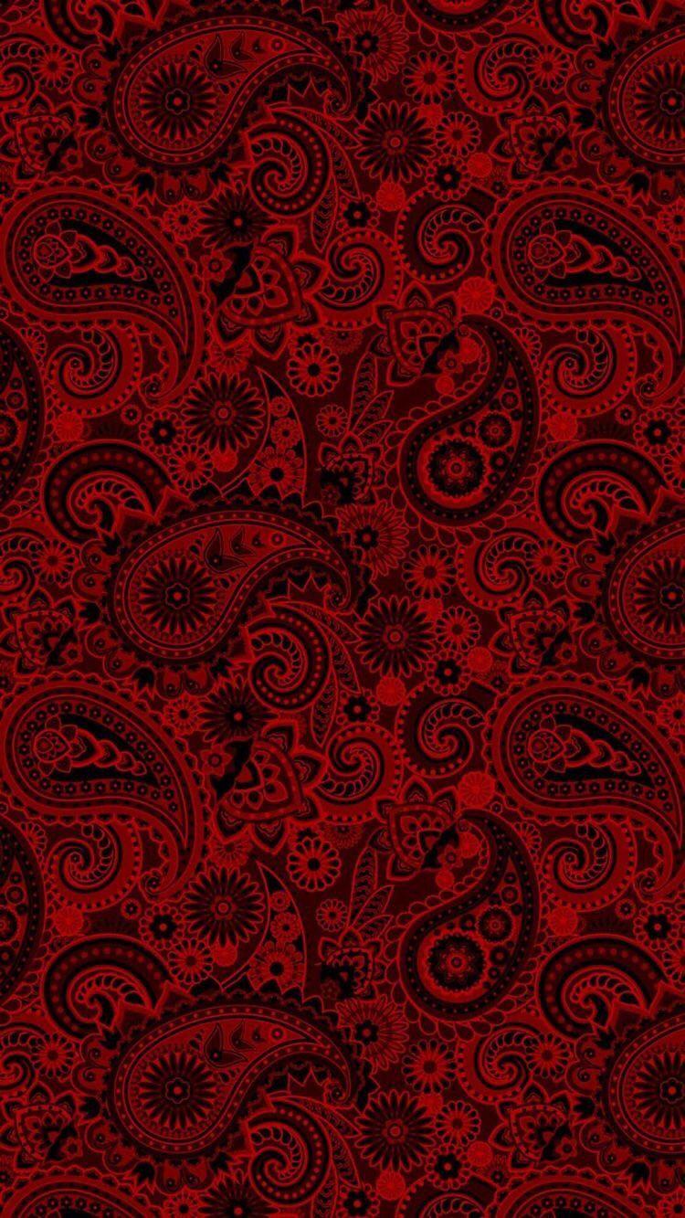Pin By Shehroze Raza On Bordyury Dlya Dekupazha Paisley Wallpaper Red And Black Wallpaper Black Background Wallpaper