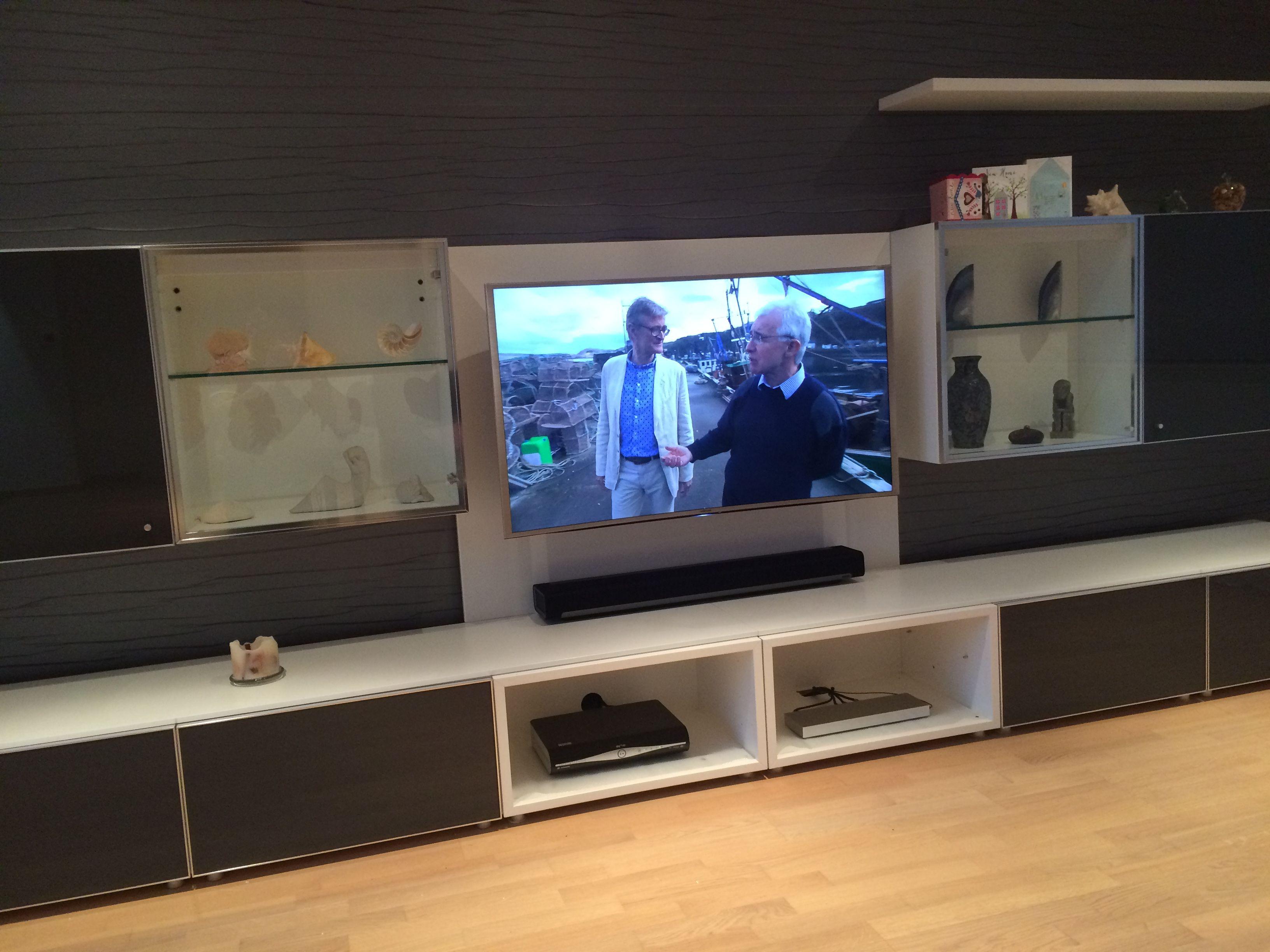 Samsung 4k Curve TV installation with Sonos Playbar, Anthony