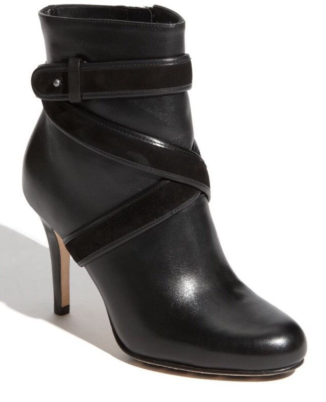 c597f0388ea Details about Cole Haan Women Cassidy Buckle Black Leather Bootie ...