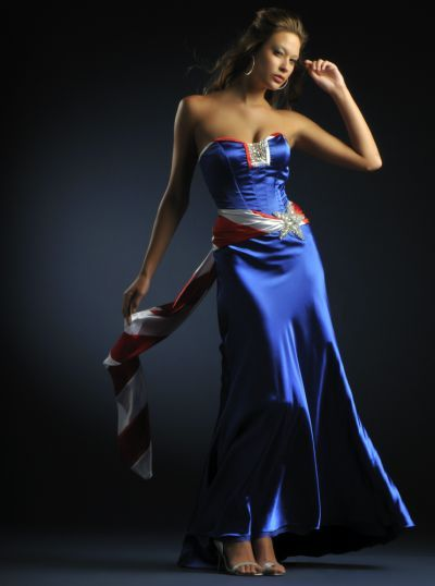 Cassandra Stone patriotic prom dress 4563 | Little Mickaela ...