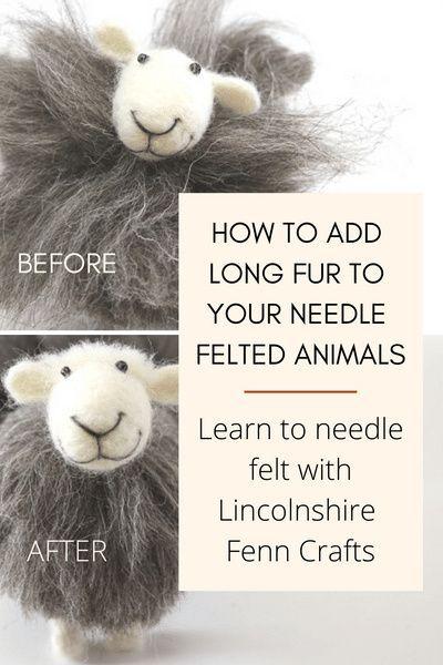 Easy felting tutorials - Needle felted sheep