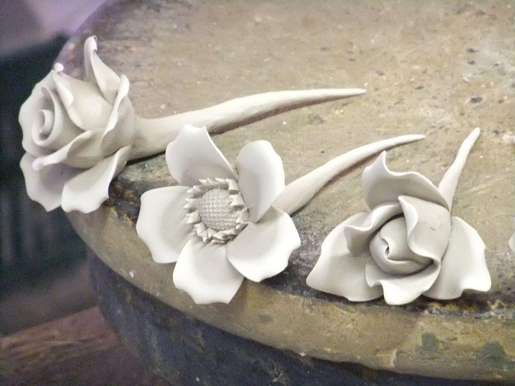 Pottery flowers #potteryideas