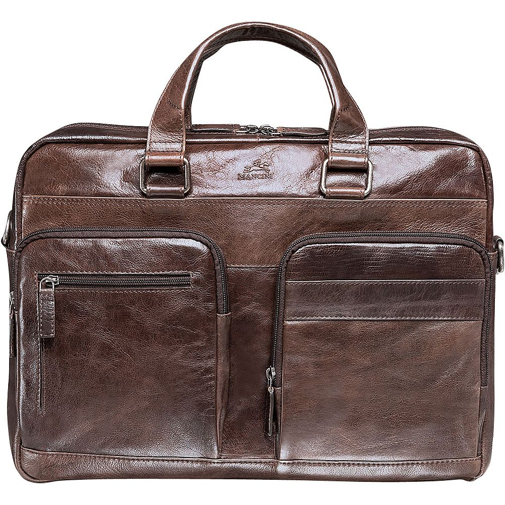 Mancini Leather Goods 17 Inch Laptop Backpack