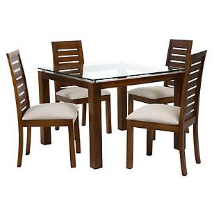 Basement juego de comedor 4 sillas capri miel casa for Juego de comedor redondo 4 sillas