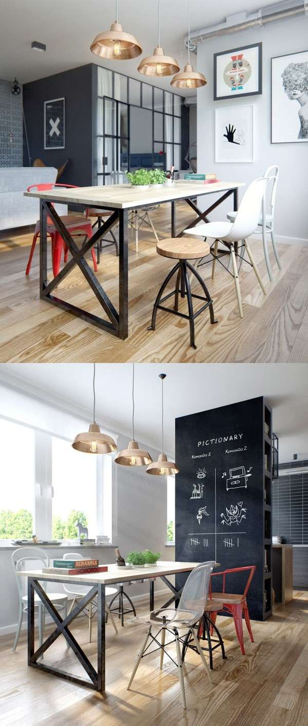 Design scandinave salle manger en 58 id es inspirantes - Table de salon style scandinave ...