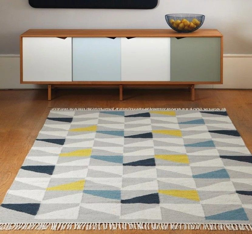 Pin Claregreen Cpg Room Spare Retro Home Modern Rugs Mustard Rug