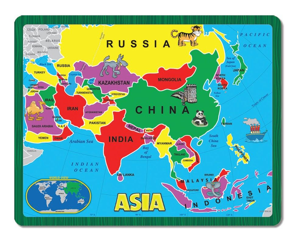 Scaricare Asia Map Maps For Kids Printable Maps
