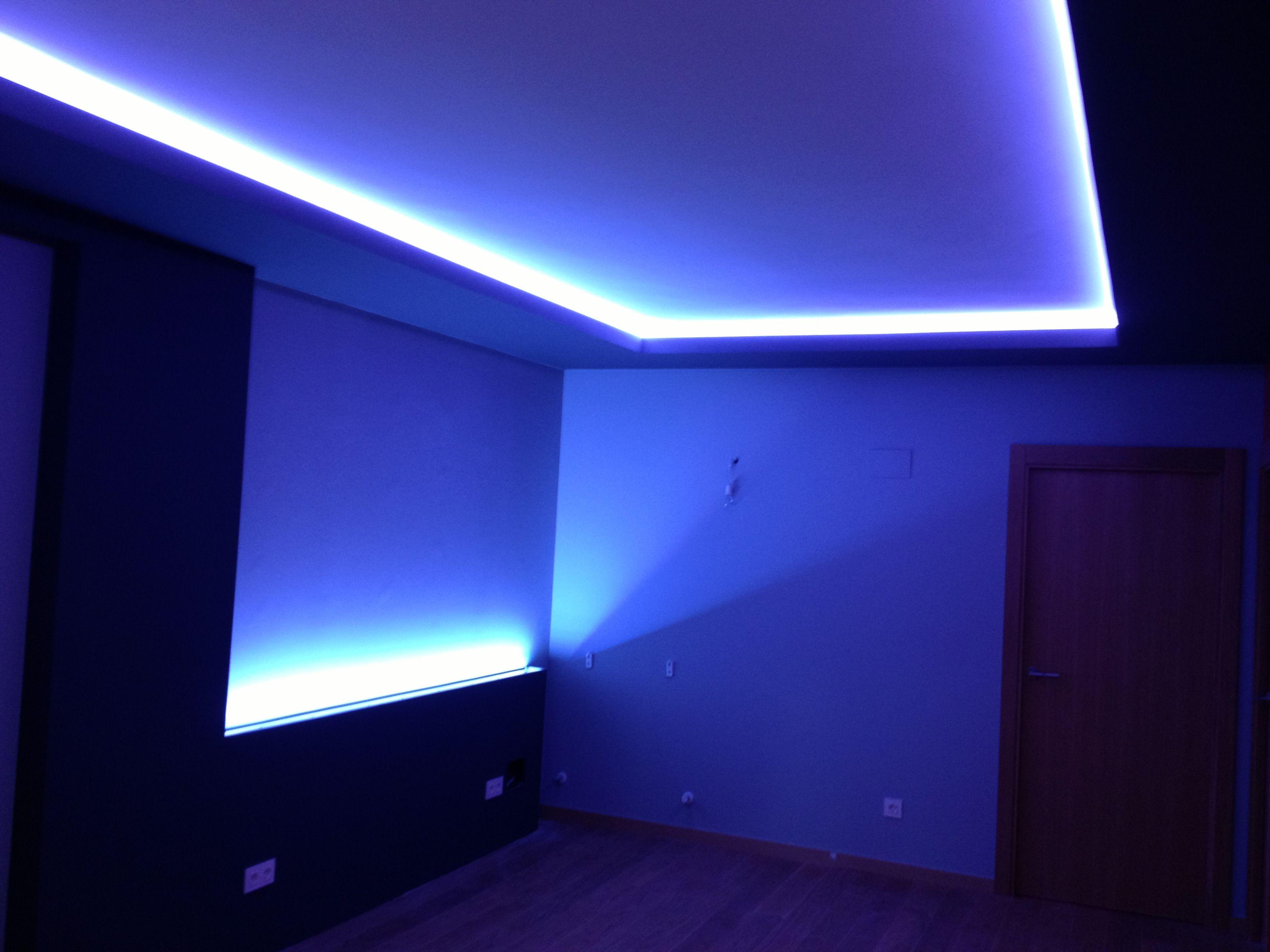 Tiras rgb en sal n 6 iluminacion pinterest for Iluminacion led salon