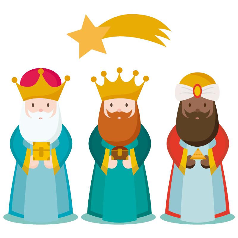Los 3 Reyes Magos Vector Reyes Magos Animados Reyes Magos Dibujos Rey Mago