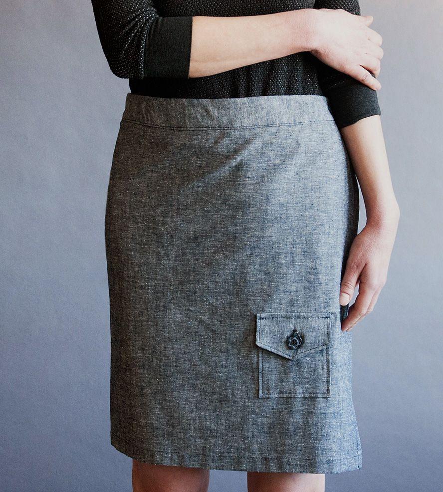 Organic Chambray Wrap Skirt