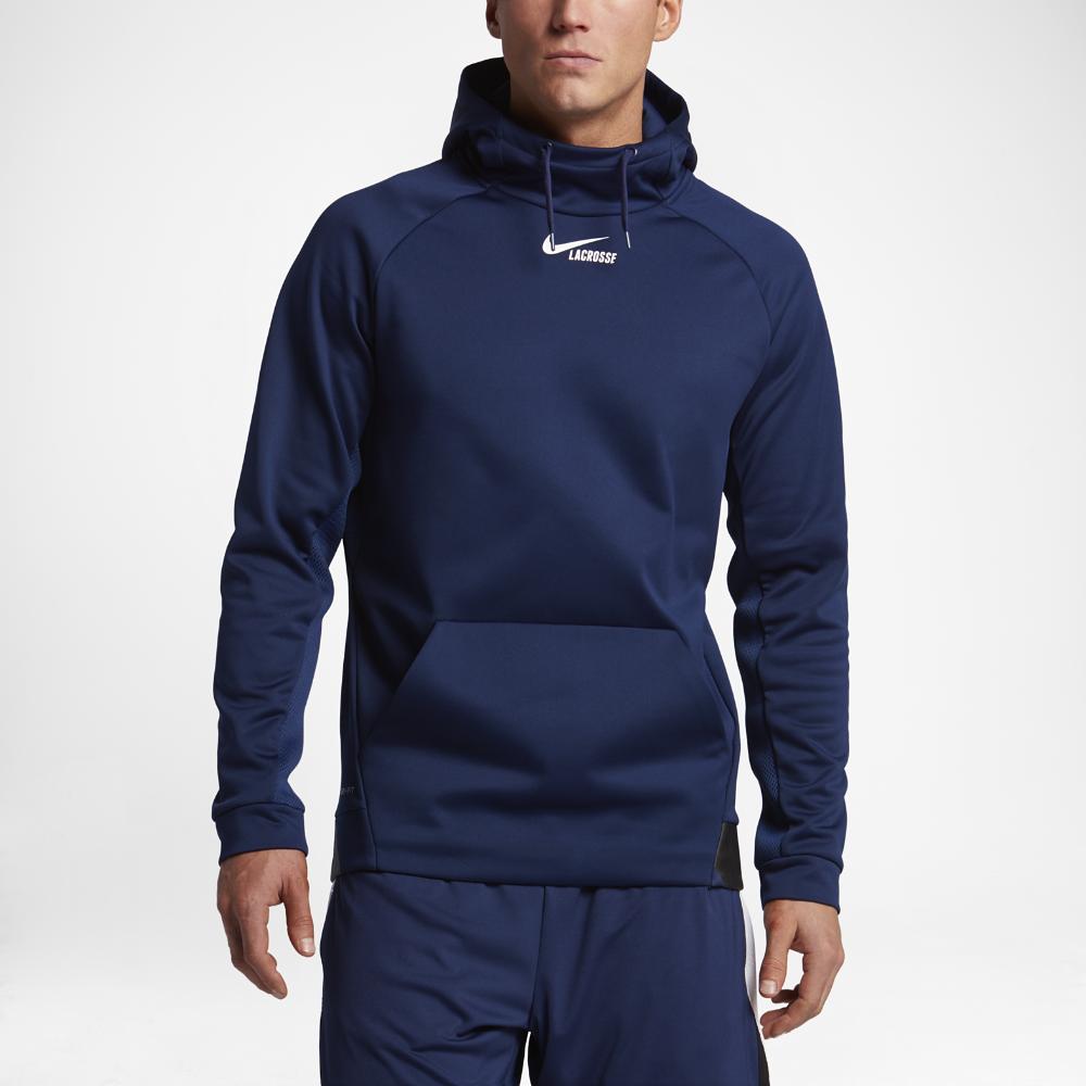 Nike Therma Men's Lacrosse Hoodie Size Medium (Blue