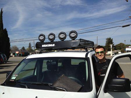2009 Jeep Compass With Custom Yakima Landing Pads With Mega