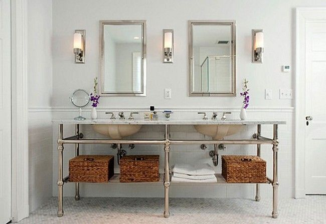 Bathroom Mirror Frames Ideas 3 Major Ways We Bet You Didn T Know Mirrors Can Transform Your Bathroom Decor Around The World In 2020 Double Vanity Bathroom Stylish Bathroom Traditional Bathroom