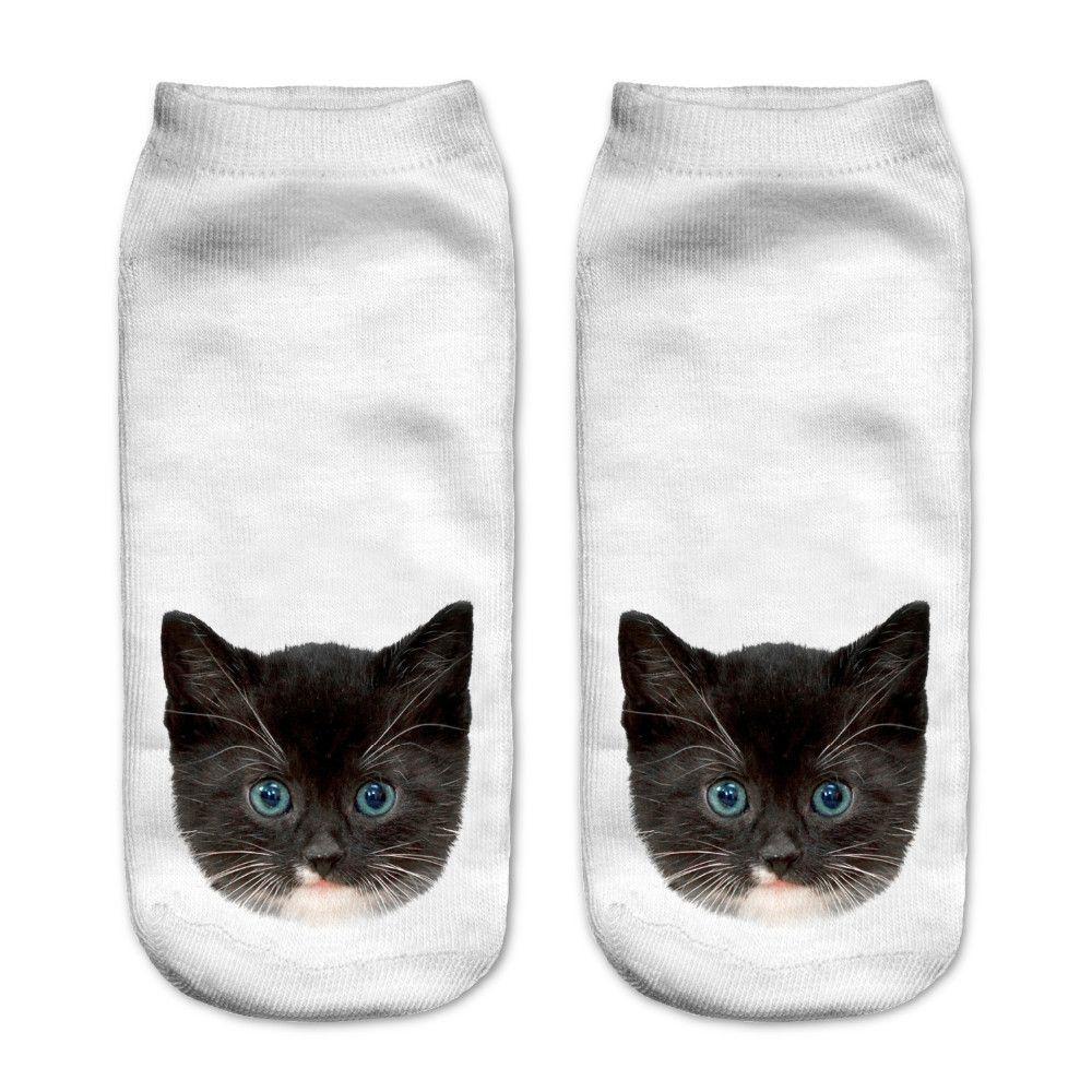 Cat Ankle Polyester Socks