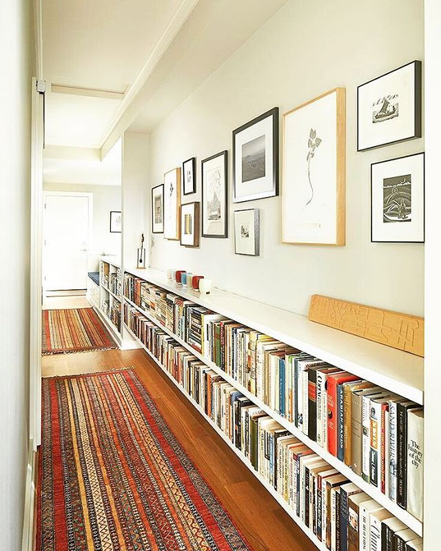 Could Run Lower Bookcases The Length Of Hallway More Room For Art But Perhaps Not Enough Storage Books