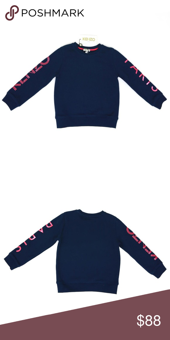 e0e53fe5 Kenzo Kids Blue Logo Arm Sweatshirt This blue Kenzo Kids sweatshirt comes  in a boxy fit