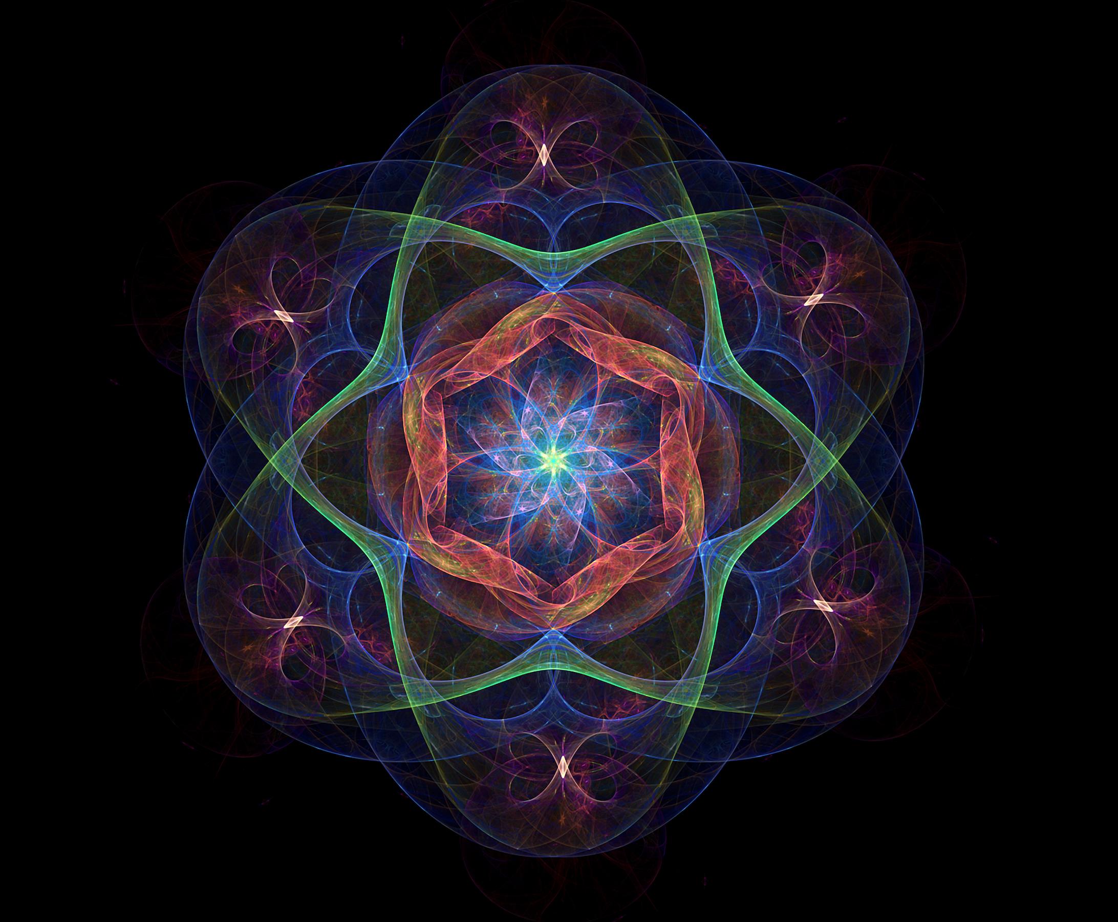 Hexahedron Toroidal Field Within Flower Of Life Fractal Art By Leon Van Kraayenburg