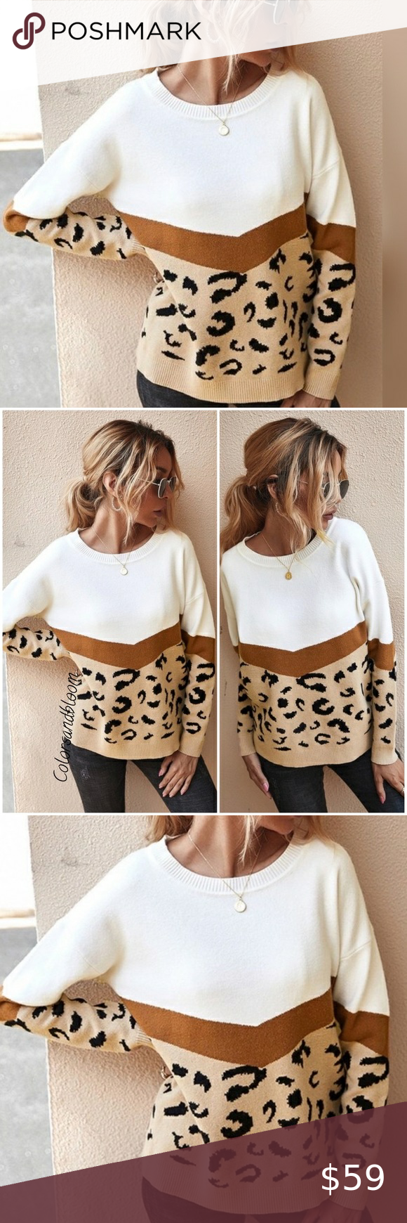 Leopard Print Crew Neck Sweater Leopard Print Crew Neck Sweater Khaki Description Leopard Printing Spl Wide Sleeve Sweater Fur Hoodie Jacket Crew Neck Sweater [ 1740 x 580 Pixel ]