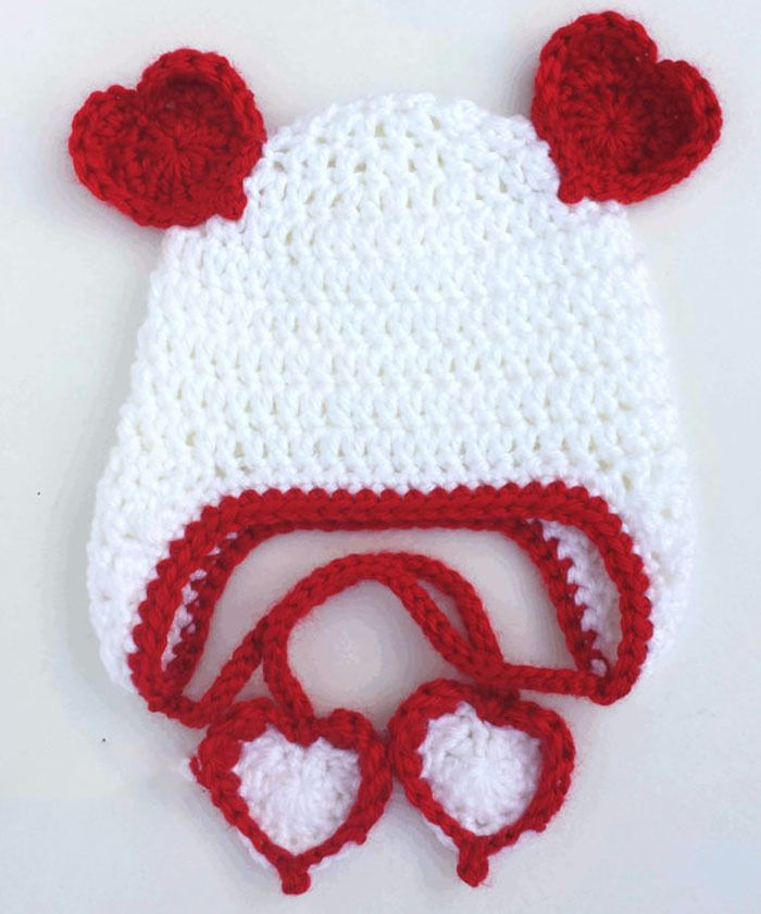Click To Buy U003cu003c Crochet Valentines Day Heart Hat,0 3