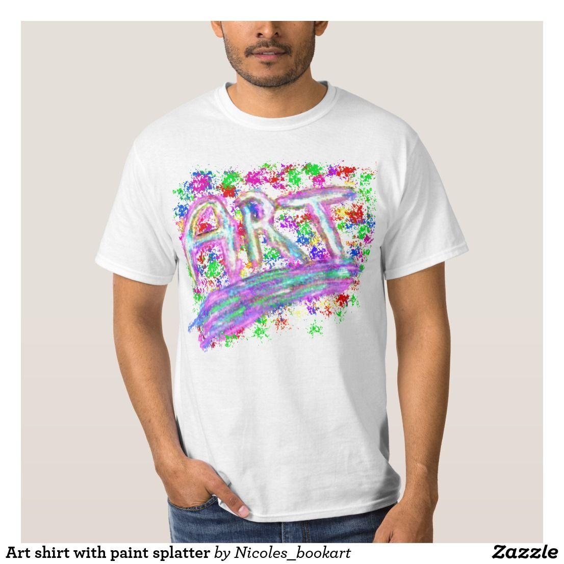 Art shirt with paint splatter