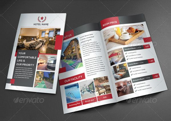 Hotel Advertising Brochure Hotel Brochures Pinterest - hotel brochure template