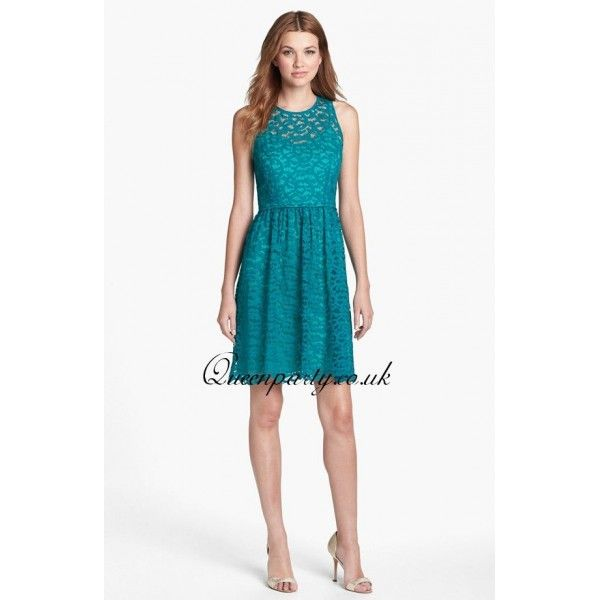 Teal Lace Fit & Flare Short Party Dress | If I ever... | Pinterest ...