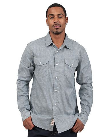 LEVI'S Button up shirt Long sleeve design Allover textured print ...