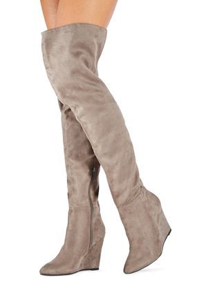 Affordable Thigh High Boots - Flat